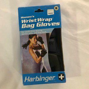 Harbinger Medium Women's Wrist Wrap Bag Gloves